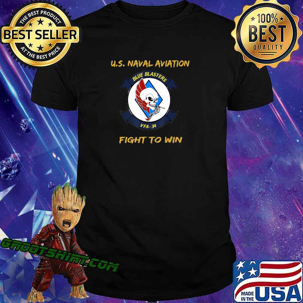 Mens Naval Aviation FA18 Hornet VFA34 history, gift T-Shirt