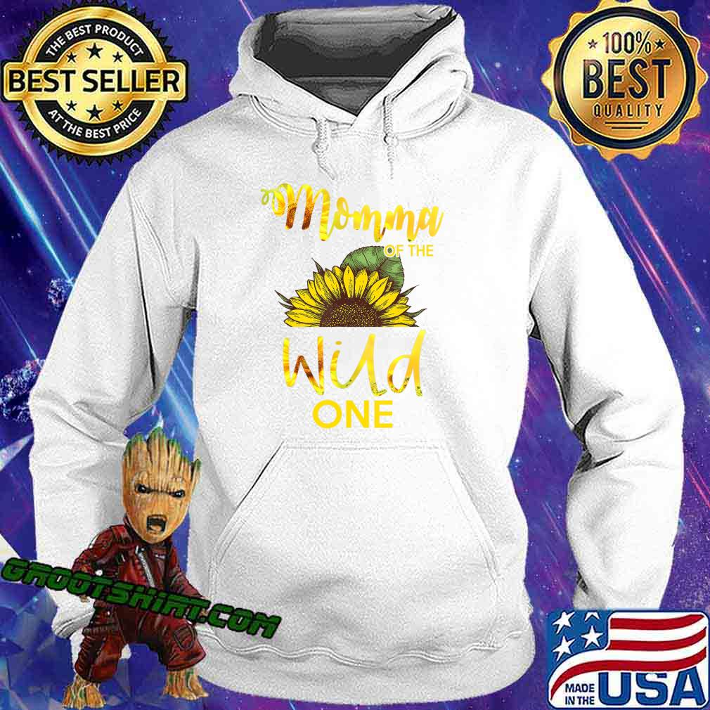 Momma Of The Wild One-1St Birthday Sunflower Outfit T-Shirt Hoodie