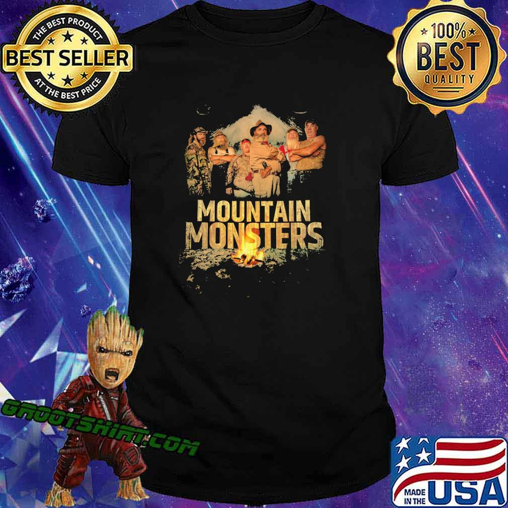 Mountain monsters fire vintage shirt