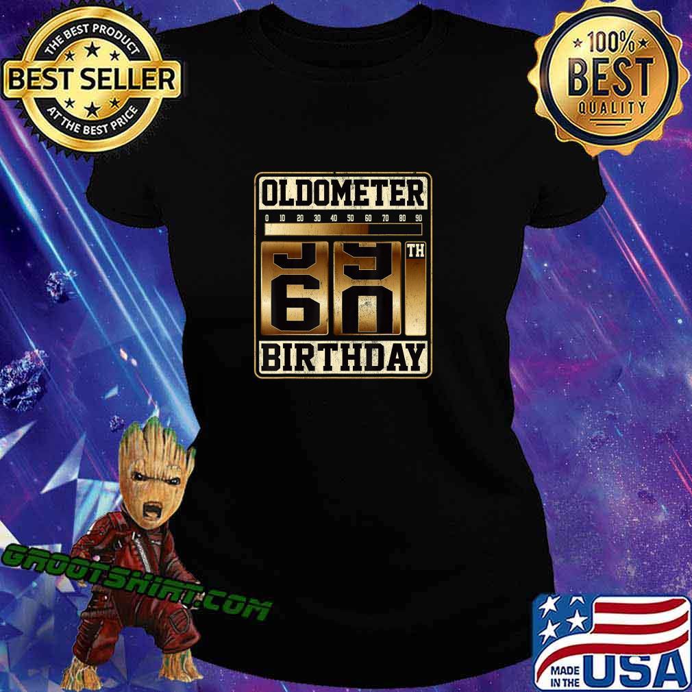 Oldometer 59-60 Shirt Turning 60 Birthday Gift Oldometer 60 T-Shirt Ladiestee