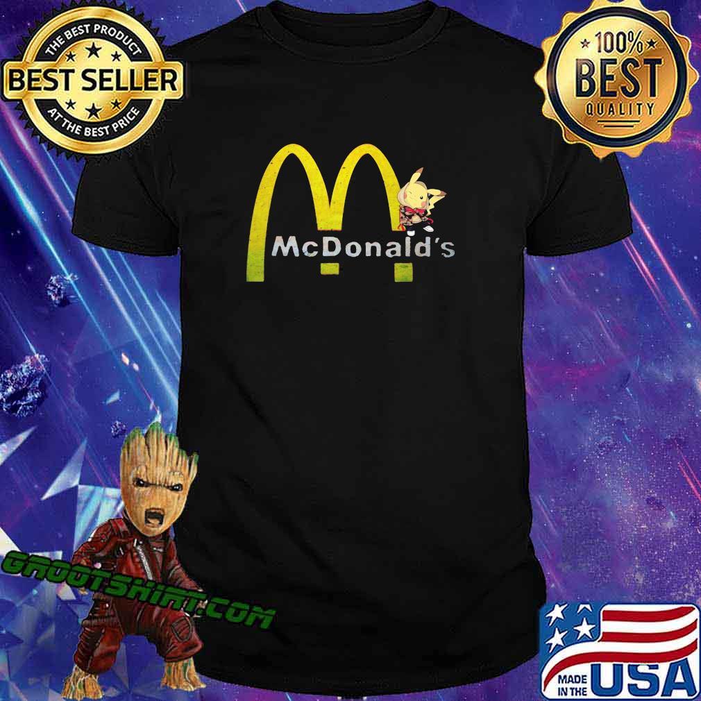 Pokemon pikachu mcdonalds logo shirt