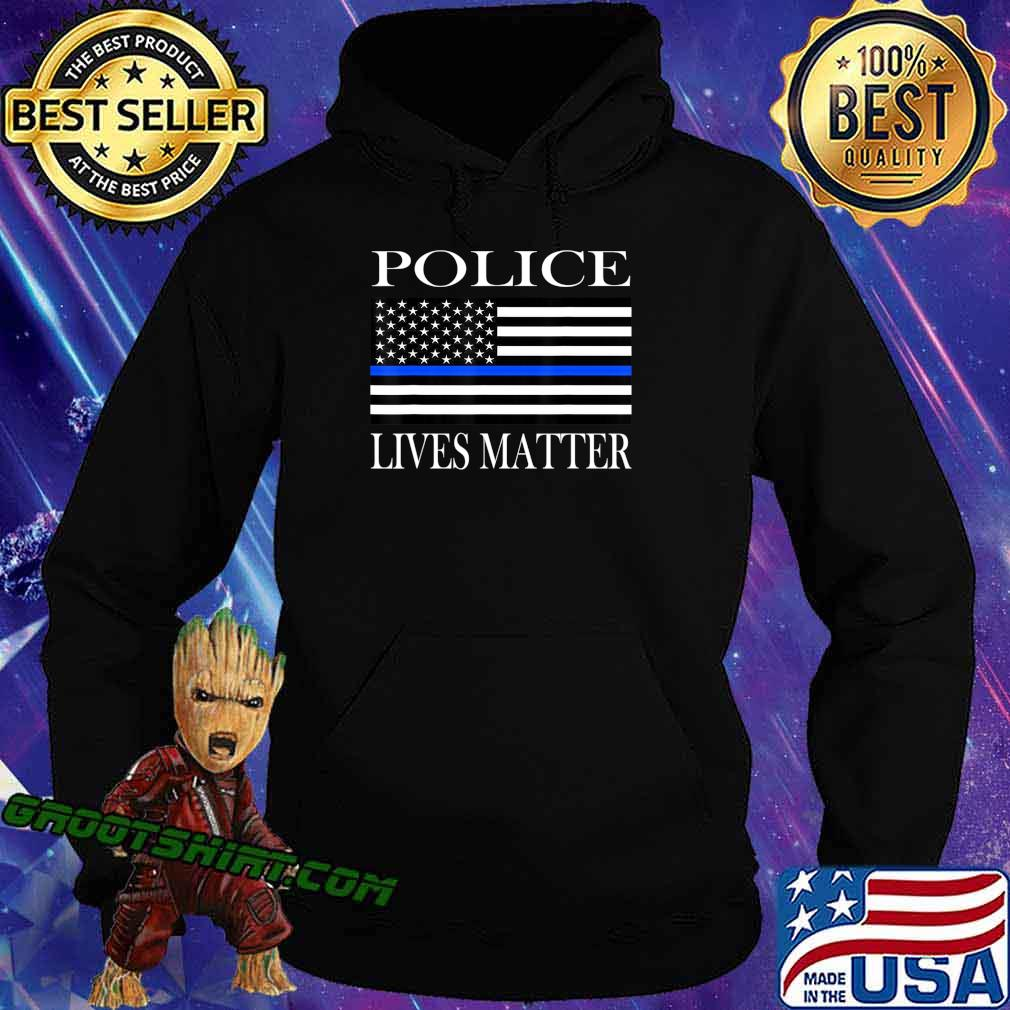Police Lives Matter American flag T-Shirt Hoodie