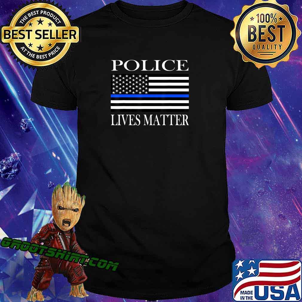 Police Lives Matter American flag T-Shirt