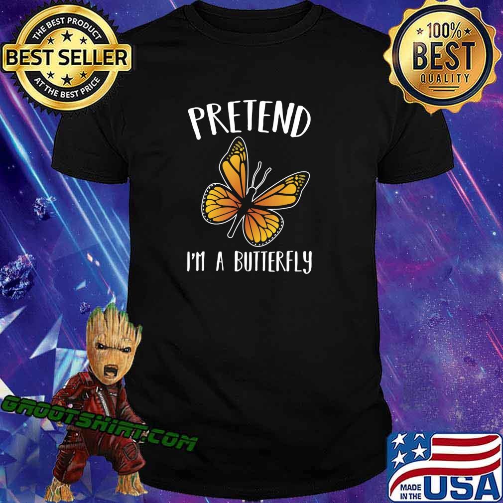 Pretend I'm A Butterfly Funny Halloween Costume Gift T-Shirt