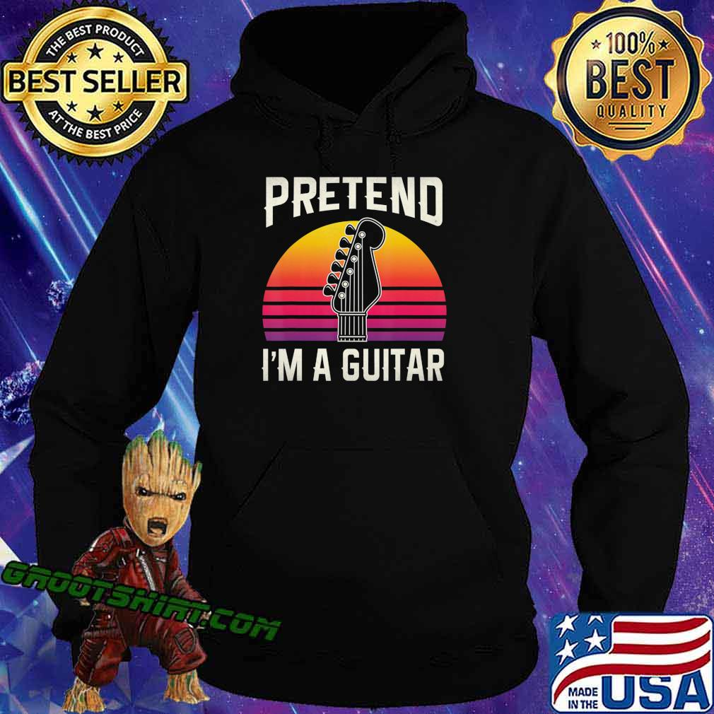 Pretend I'm A Guitar Funny Halloween Costume Gift T-Shirt Hoodie