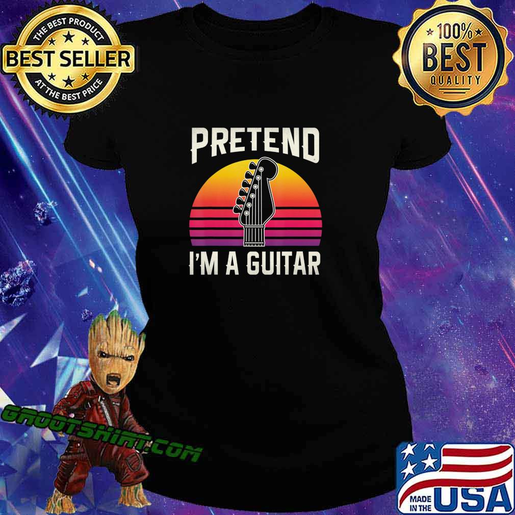 Pretend I'm A Guitar Funny Halloween Costume Gift T-Shirt Ladiestee