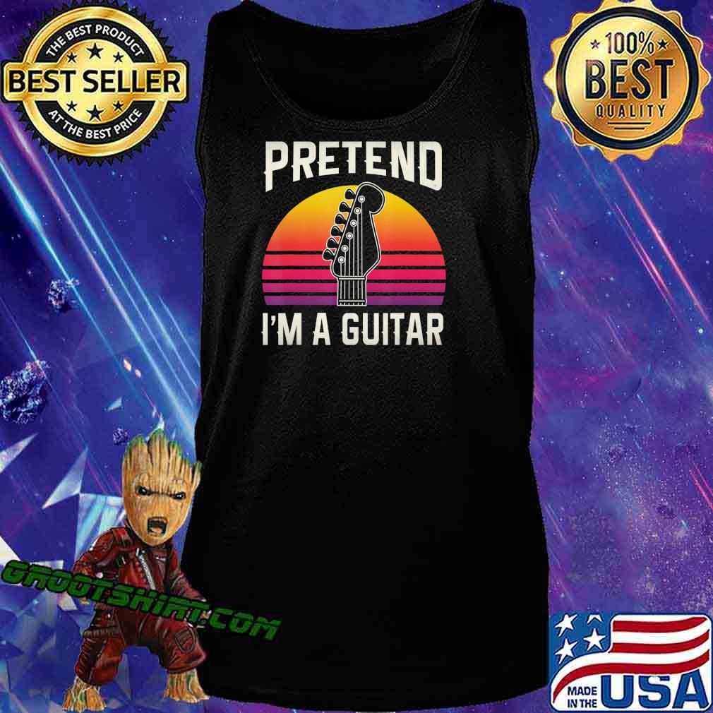 Pretend I'm A Guitar Funny Halloween Costume Gift T-Shirt Tank Top