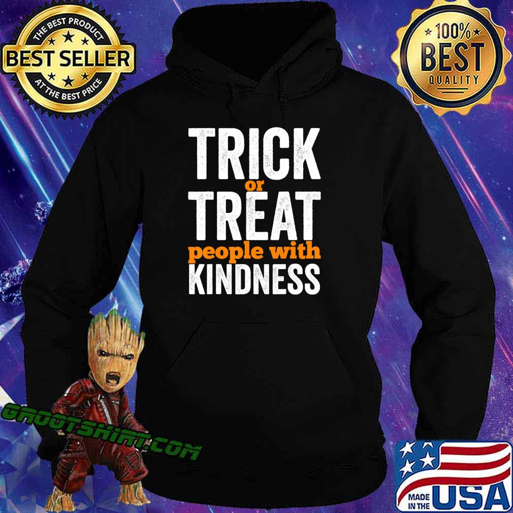 Trick Or Treat People With Kindness Halloween Teacher T-Shirt Hoodie