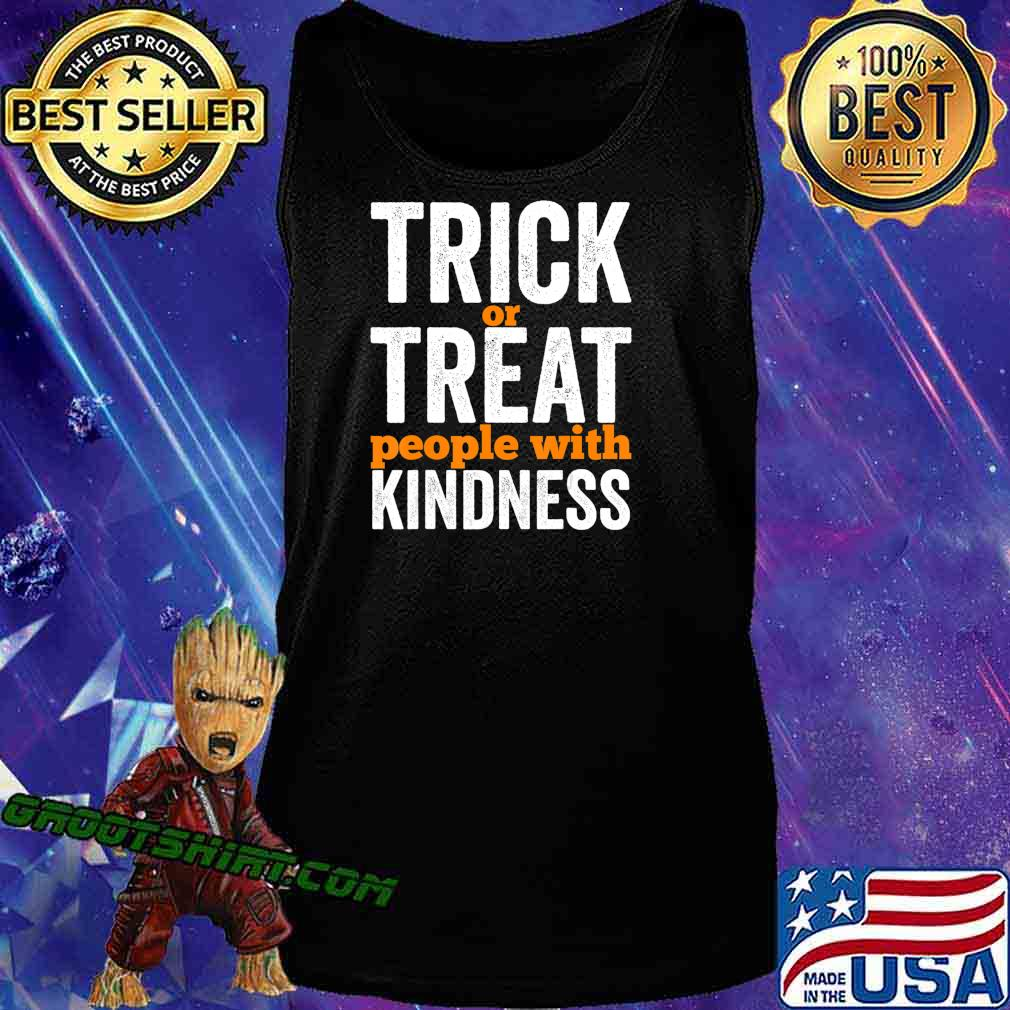 Trick Or Treat People With Kindness Halloween Teacher T-Shirt Tank Top