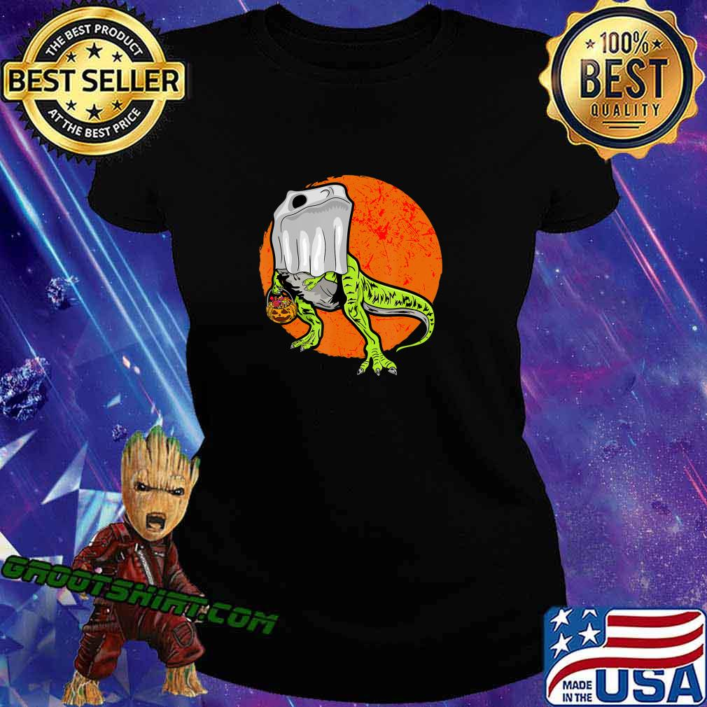 Trick Rawr Treat Halloween T Rex Dinosaur Ghost Costume Gift T-Shirt Ladiestee