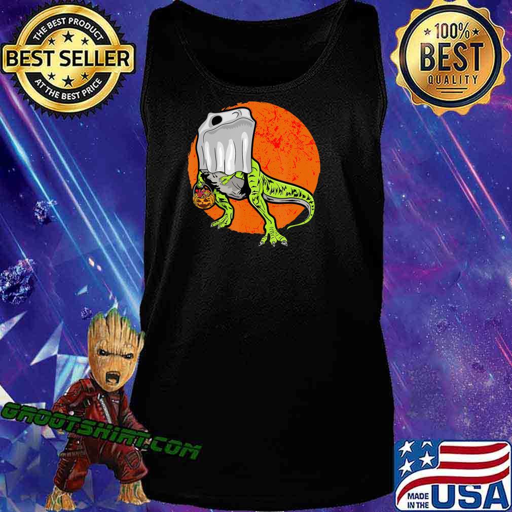 Trick Rawr Treat Halloween T Rex Dinosaur Ghost Costume Gift T-Shirt Tank Top