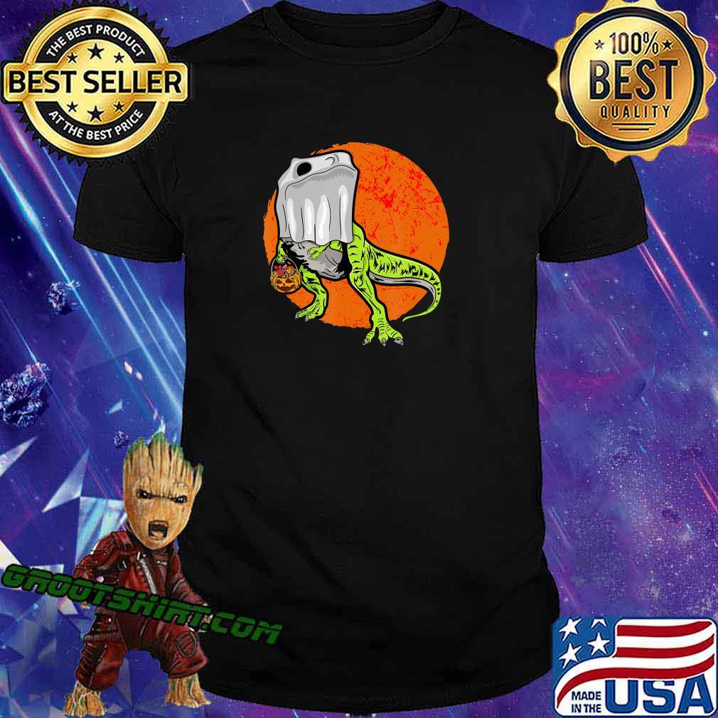 Trick Rawr Treat Halloween T Rex Dinosaur Ghost Costume Gift T-Shirt