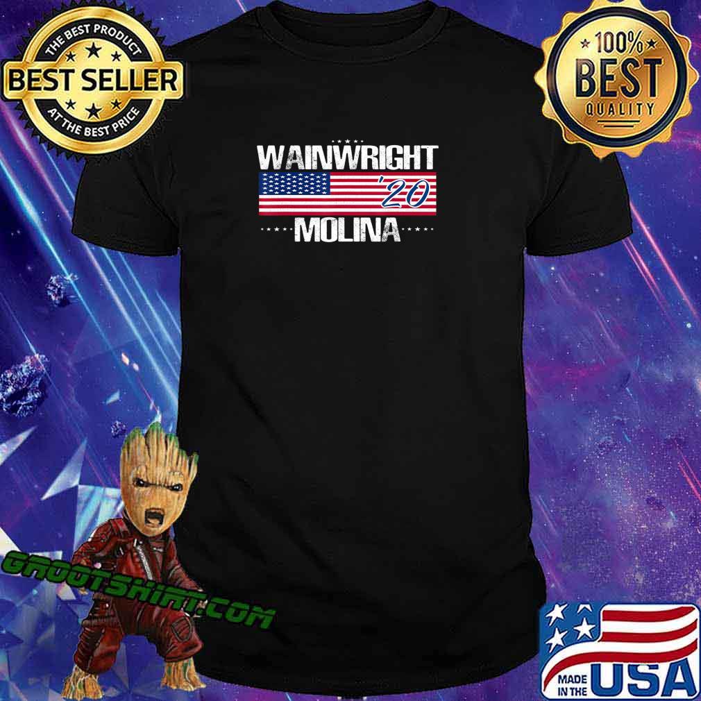 Wainwright Molina 2020 Shirt American Flag sports gift idea T-Shirt