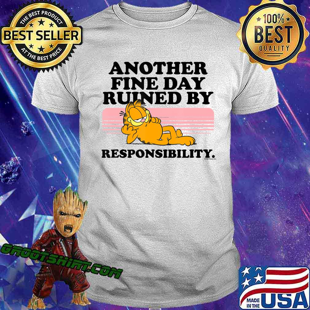 Garfield Ruined By Responsibility T-Shirt
