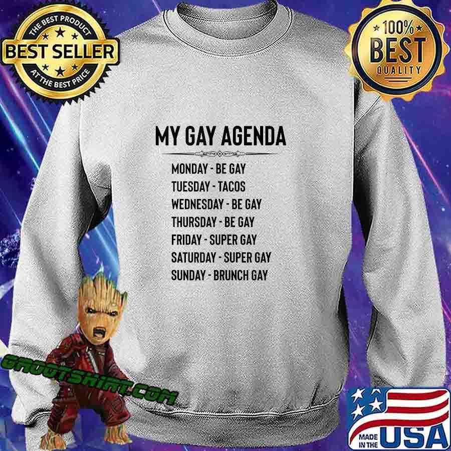 Gay Pride Gifts - My Gay Agenda Funny LGBT & LGBTQ Gays s Sweatshirt