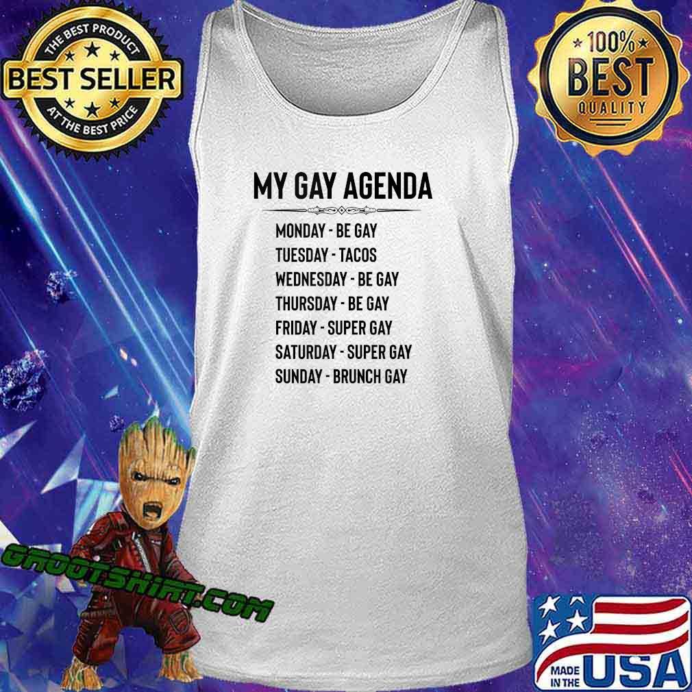 Gay Pride Gifts - My Gay Agenda Funny LGBT & LGBTQ Gays s Tank Top