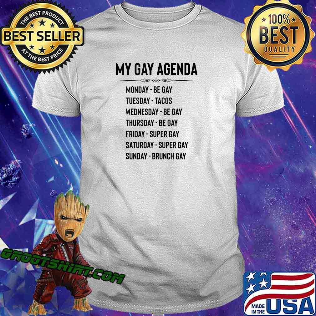 Gay Pride Gifts - My Gay Agenda Funny LGBT & LGBTQ Gays shirt