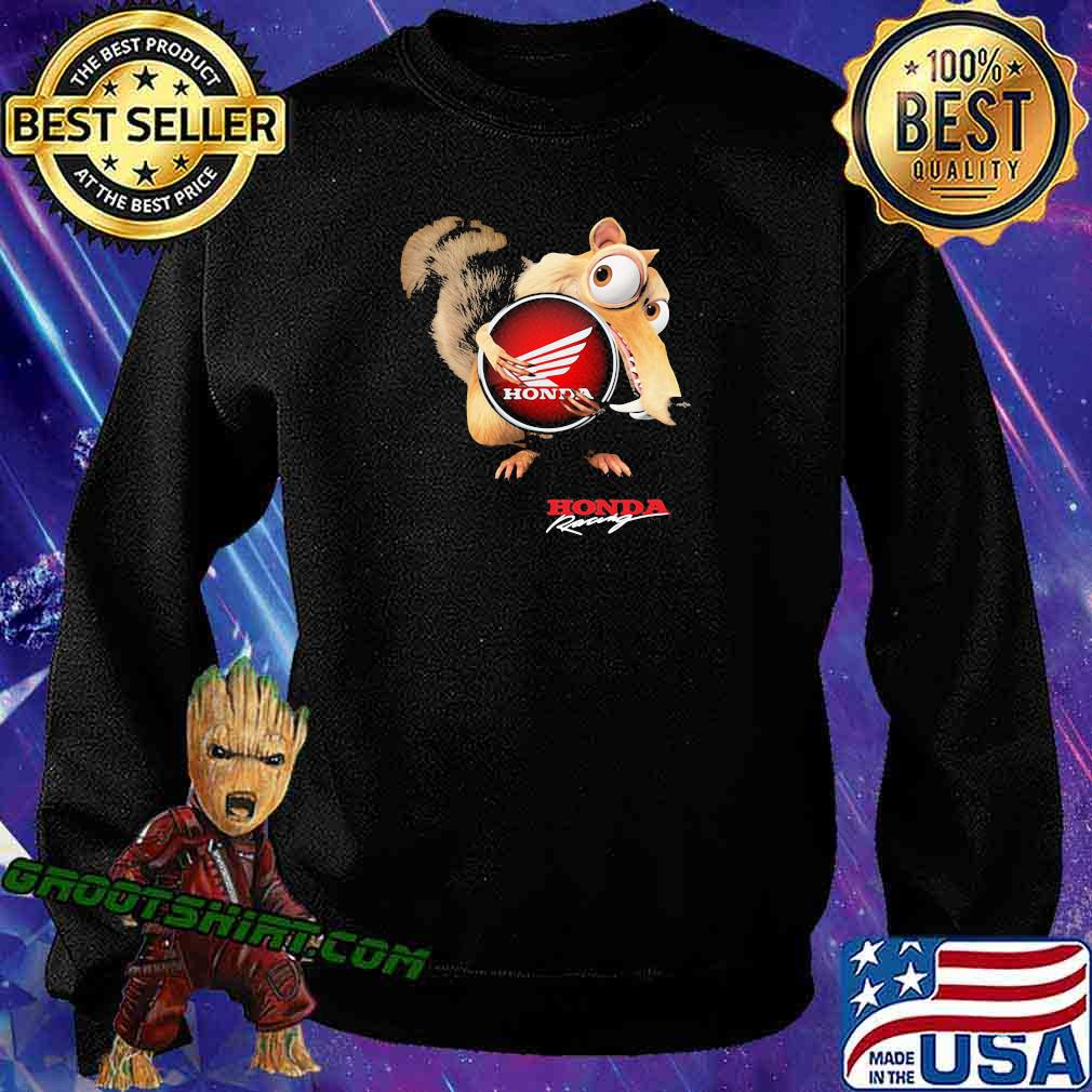 Ice age scrat hug honda logo s Sweatshirt