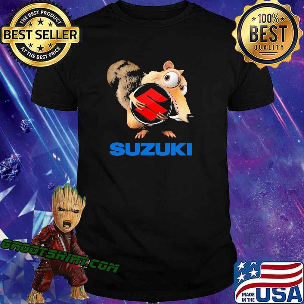 Ice age scrat hug suzuki logo shirt