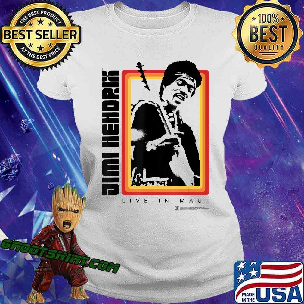 Jimi Hendrix Official Live in Maui Photo Shirt Ladiestee