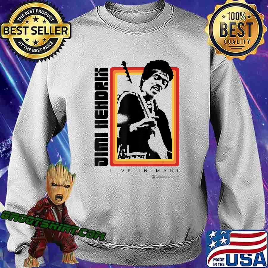 Jimi Hendrix Official Live in Maui Photo Shirt Sweatshirt