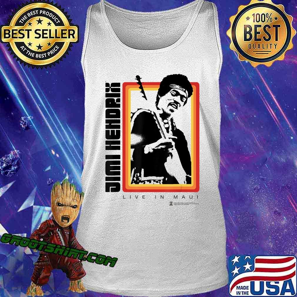 Jimi Hendrix Official Live in Maui Photo Shirt Tank Top