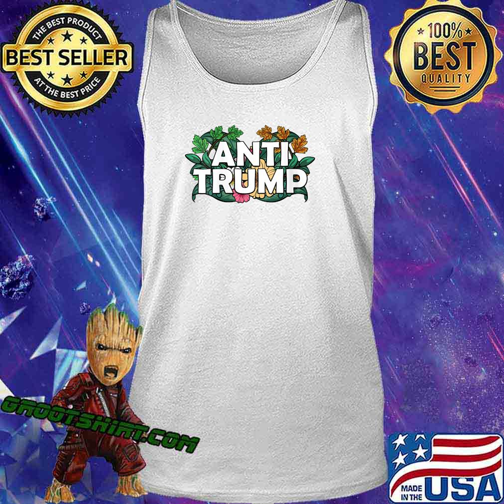 RESIST Floral Anti Trump Political Protest America Shirt Tank Top