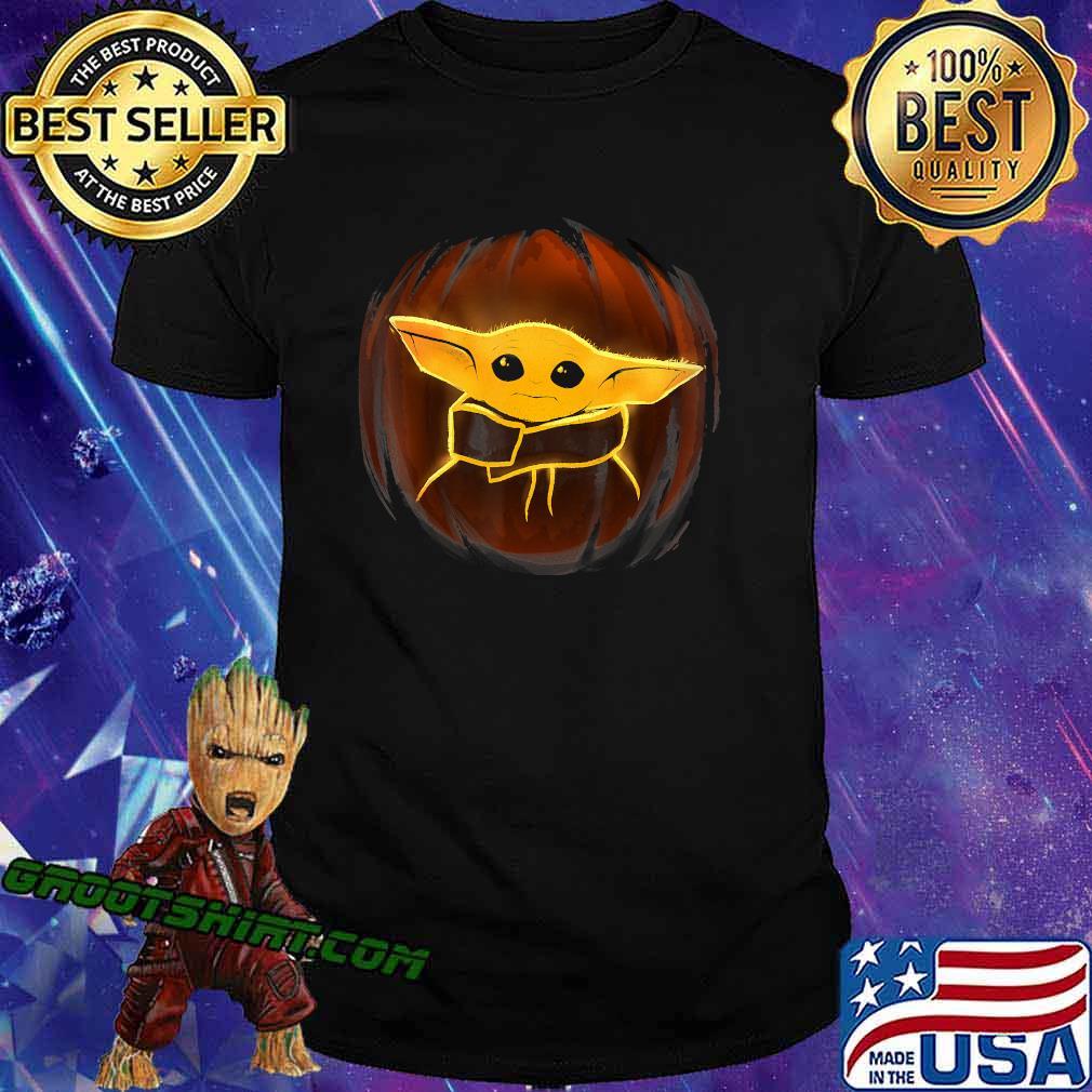 Star Wars The Mandalorian Halloween The Child Pumpkin Baby Yoda T-Shirt