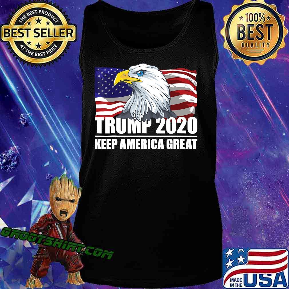 Trump 2020 Keep America Great USA Flag US Elections 2020 T-Shirt Tank Top