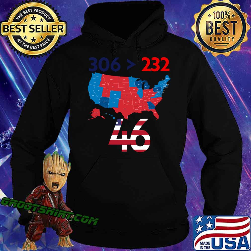 306 232 = 46 American Flag Maps Election Shirt Hoodie