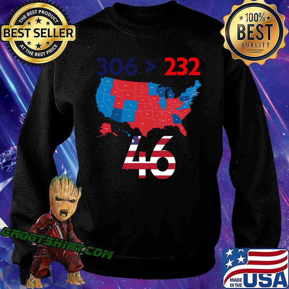 306 232 = 46 American Flag Maps Election Shirt Sweatshirt