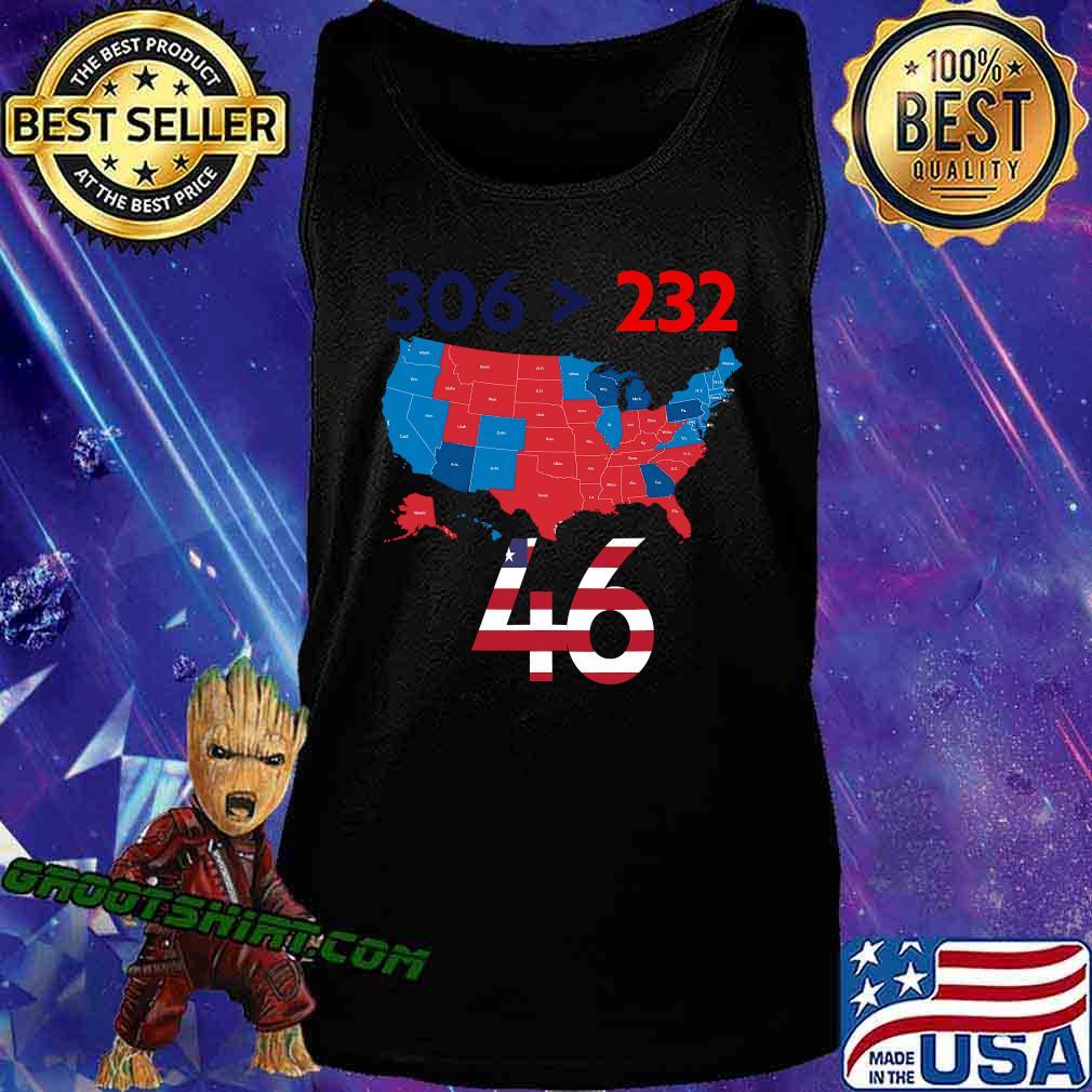 306 232 = 46 American Flag Maps Election Shirt Tank Top