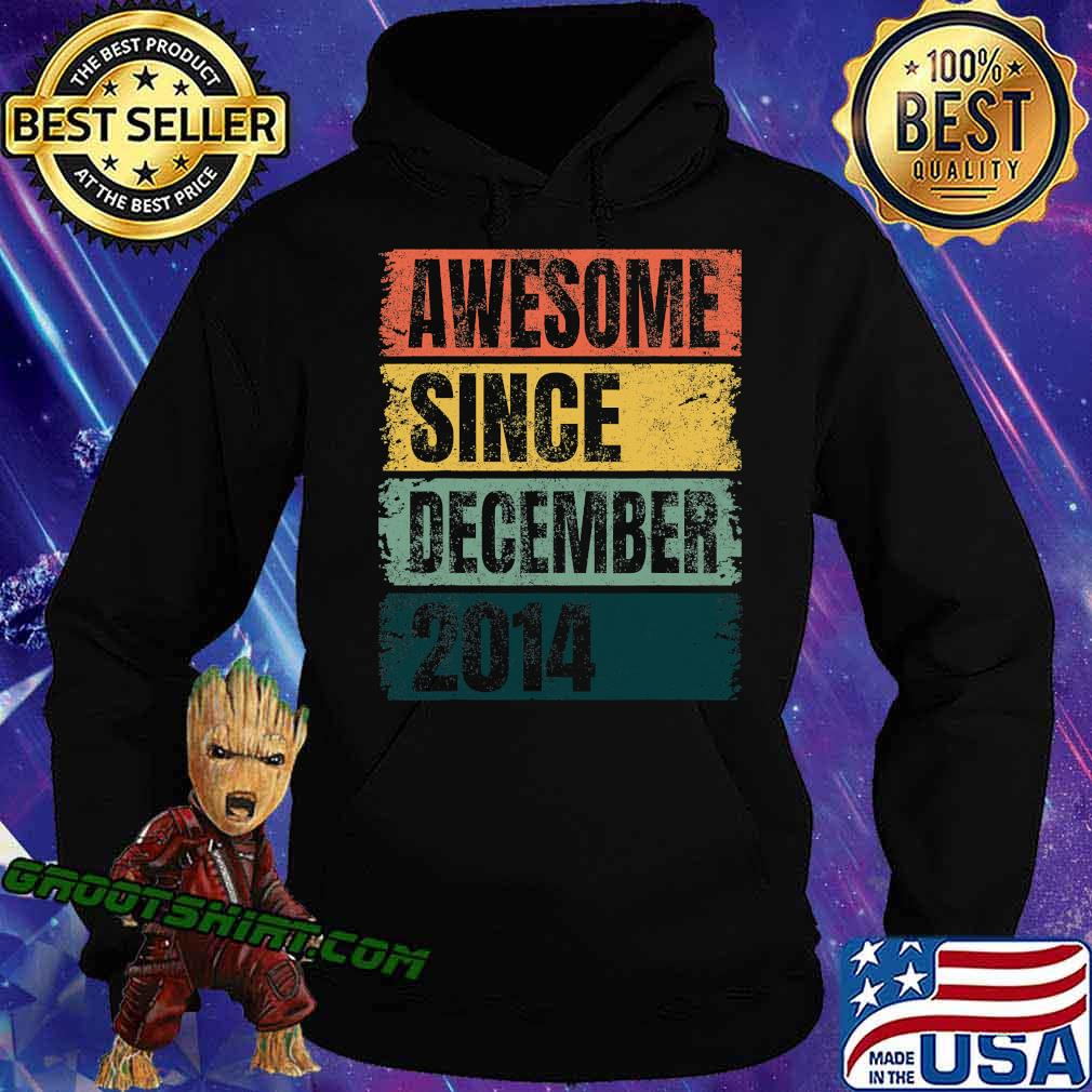 Awesome Since December 2014 Retro Colors 6th Shirt Hoodie