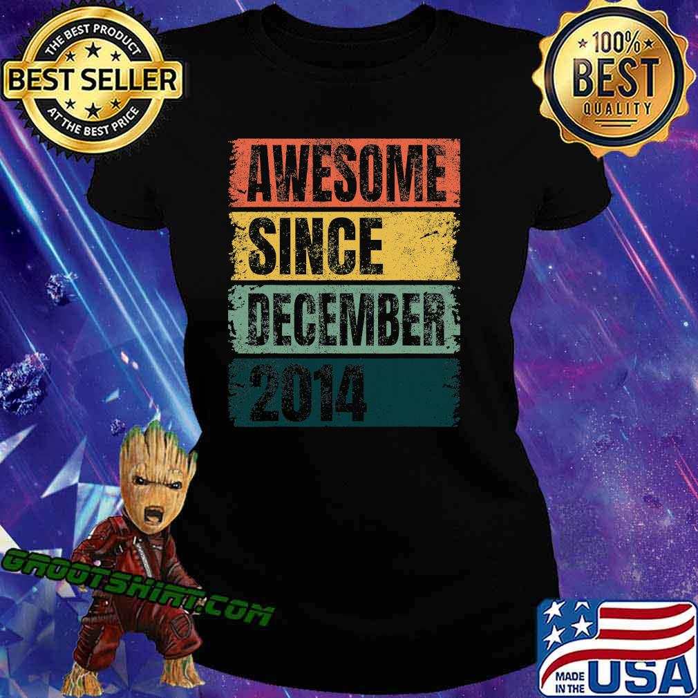 Awesome Since December 2014 Retro Colors 6th Shirt Ladiestee