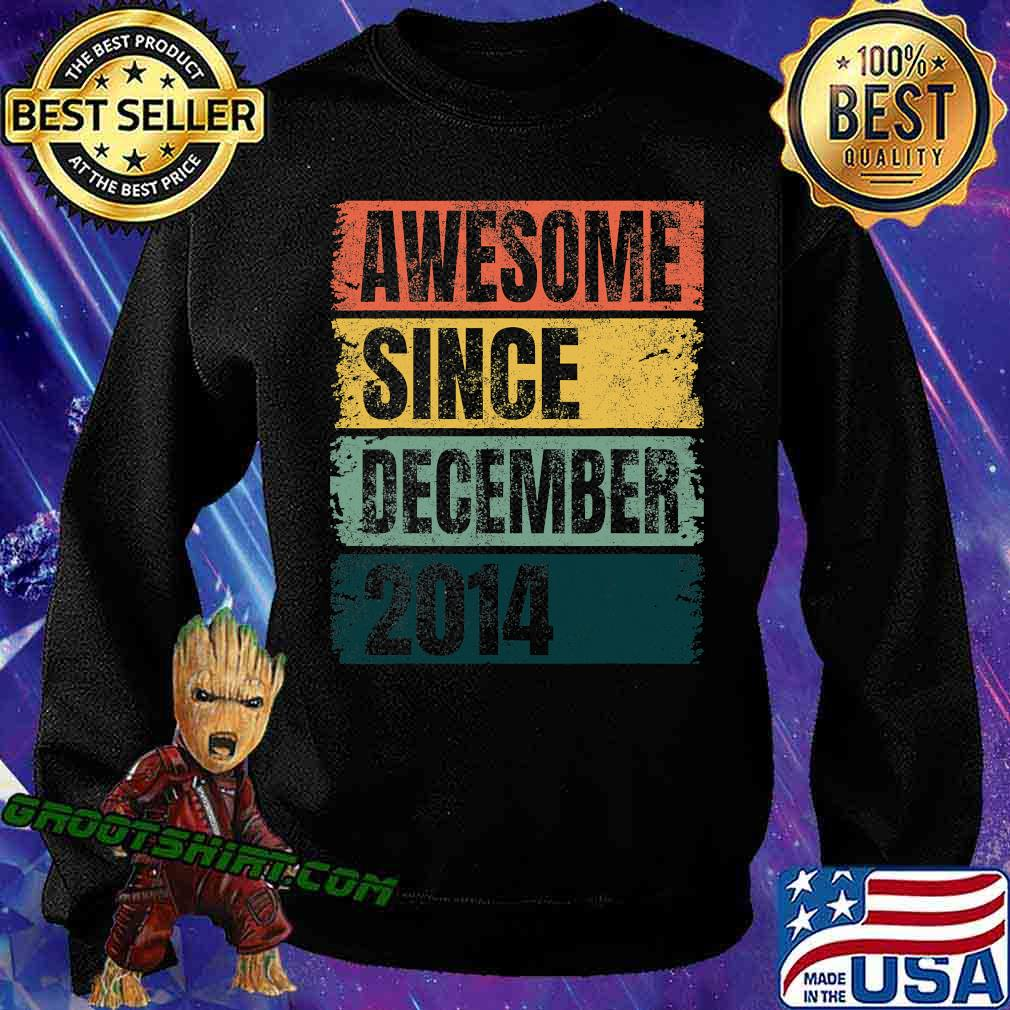 Awesome Since December 2014 Retro Colors 6th Shirt Sweatshirt