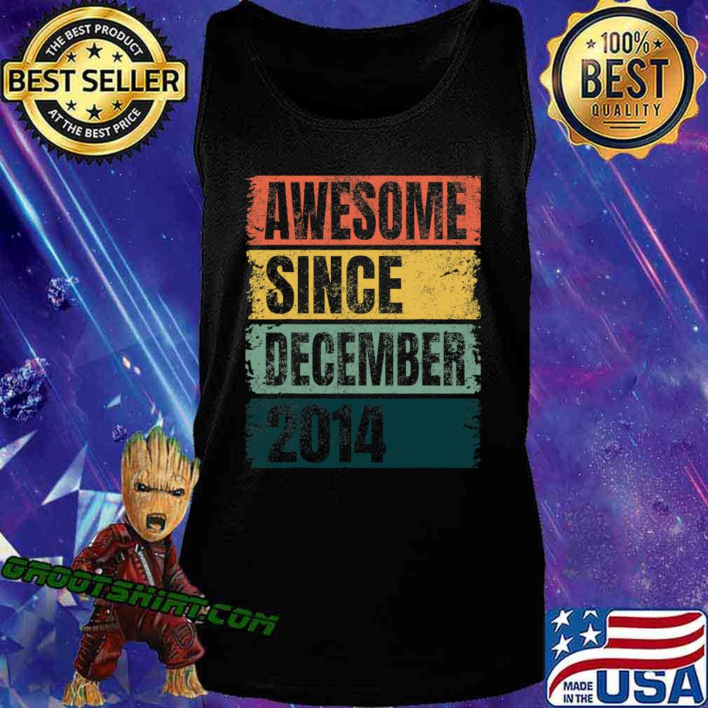 Awesome Since December 2014 Retro Colors 6th Shirt Tank Top