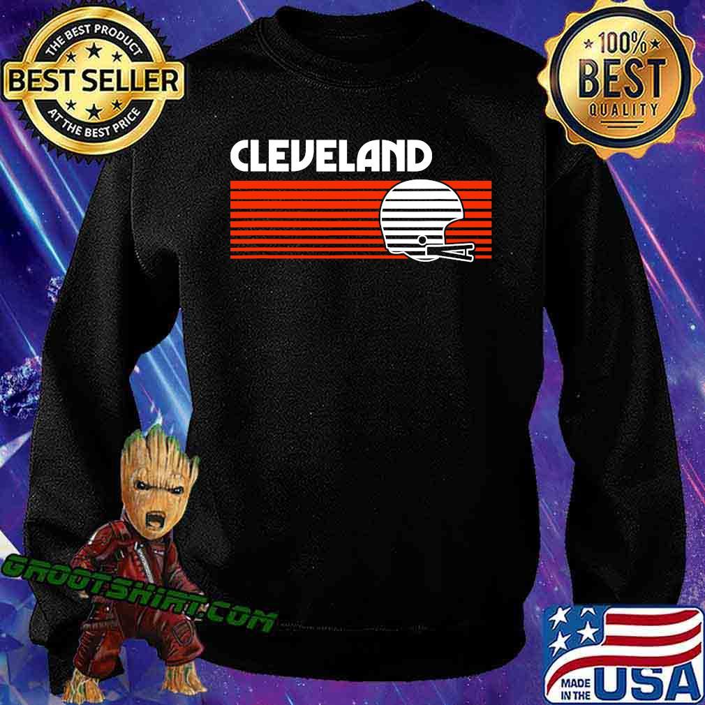 Cleveland football helmet retro game day s Sweatshirt