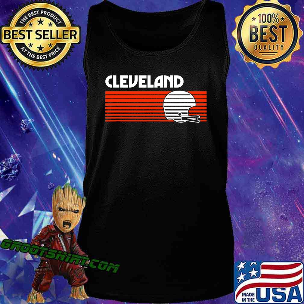 Cleveland football helmet retro game day s Tank Top