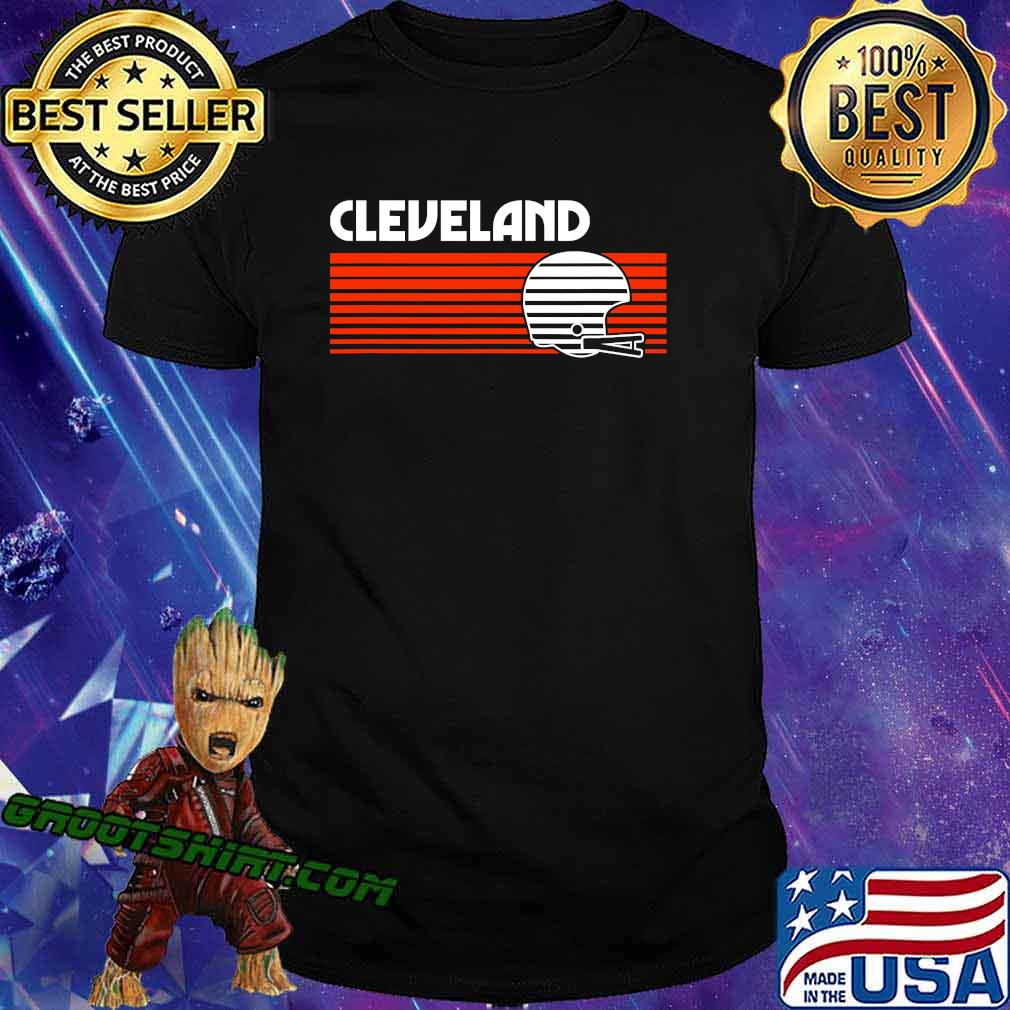 Cleveland football helmet retro game day shirt