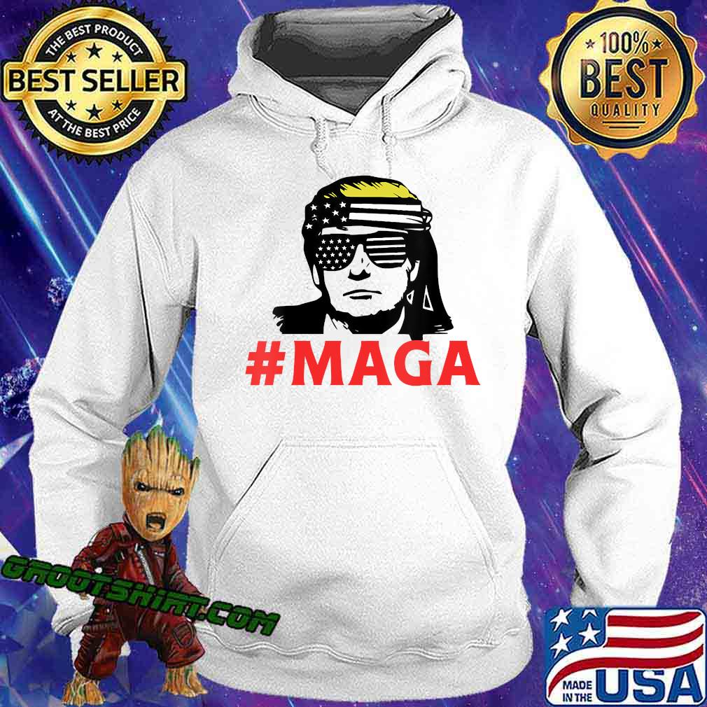 President trump maga patriotic american flag for patriots s Hoodie