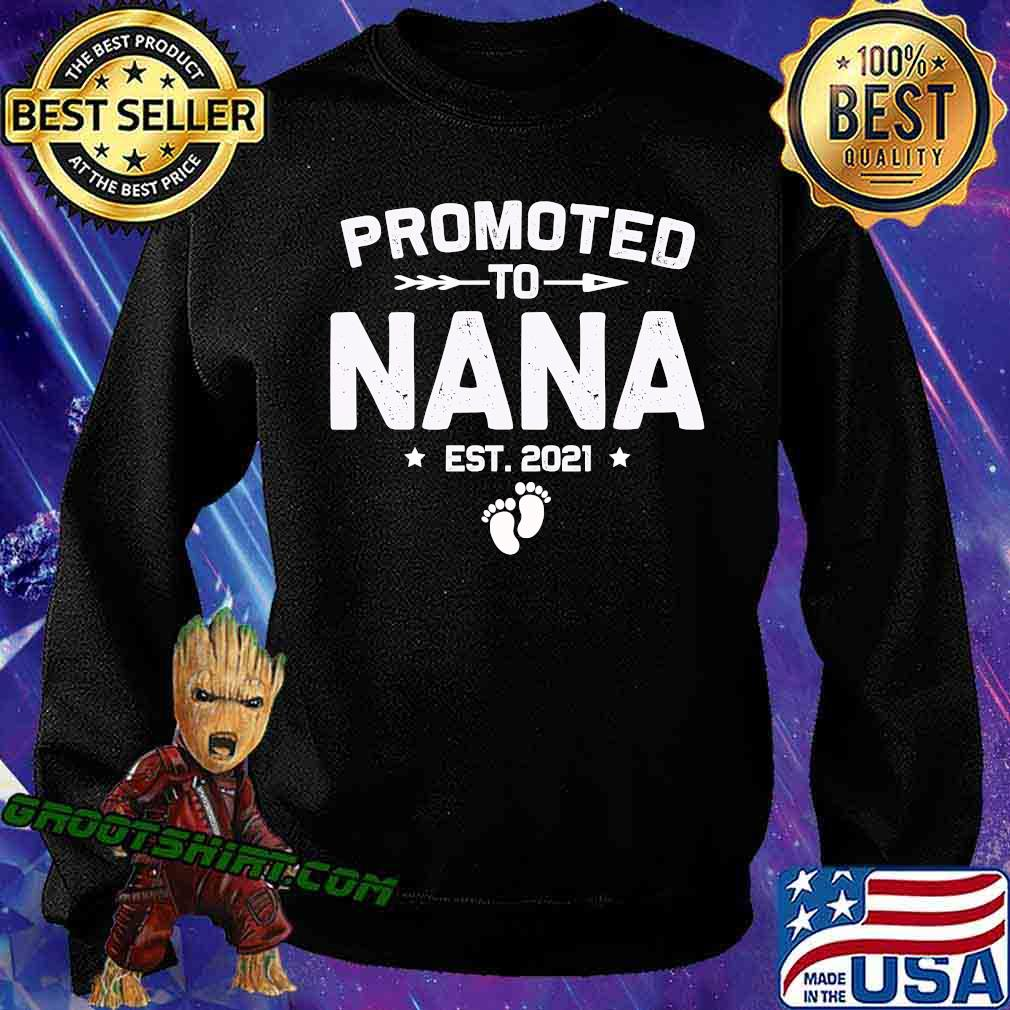 Promoted To Nana Est 2021 New Mom Shirt Sweatshirt