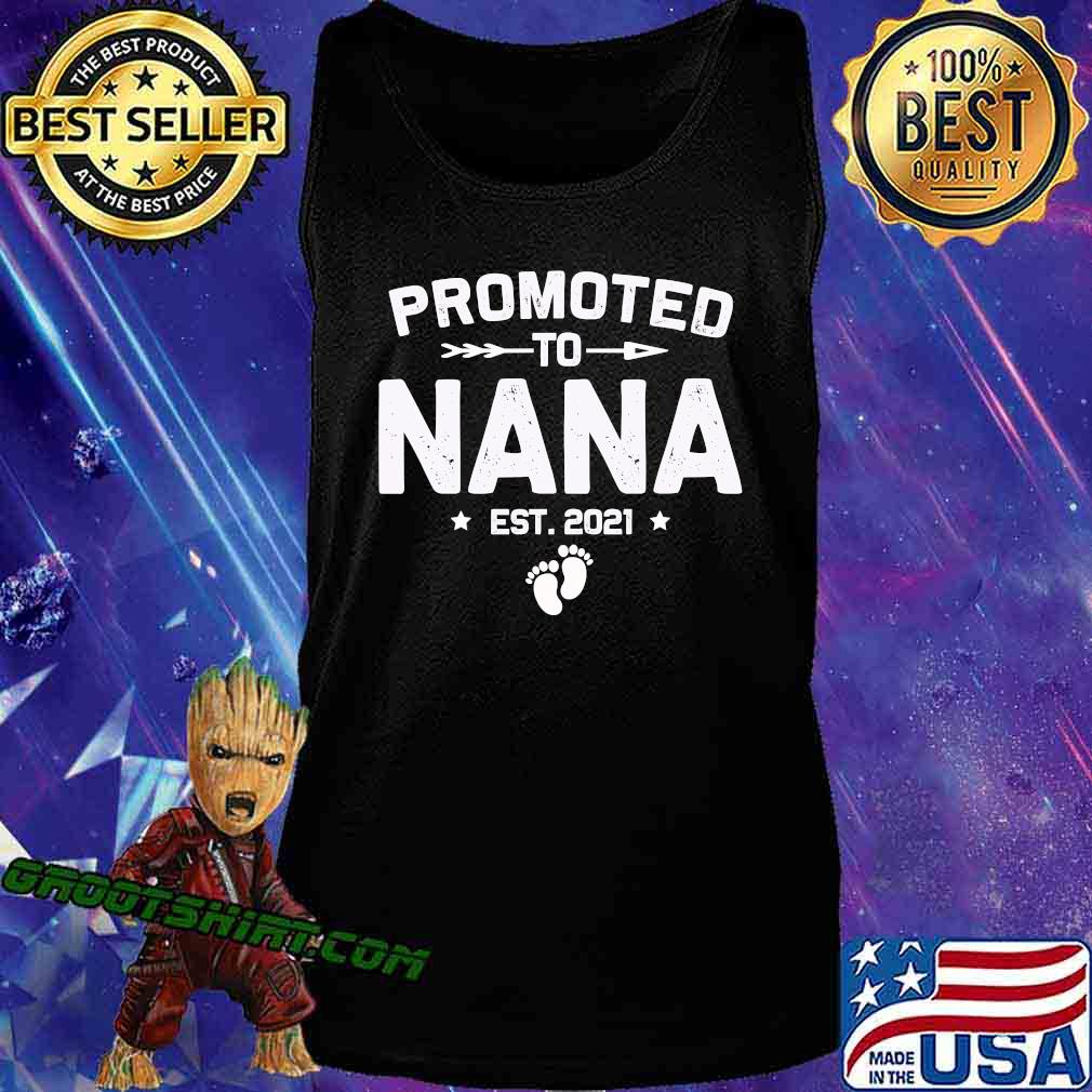 Promoted To Nana Est 2021 New Mom Shirt Tank Top