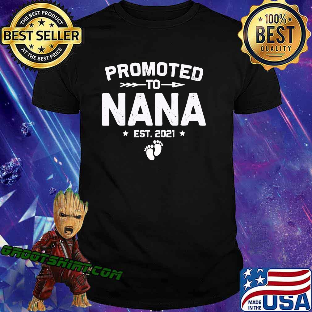 Promoted To Nana Est 2021 New Mom Shirt