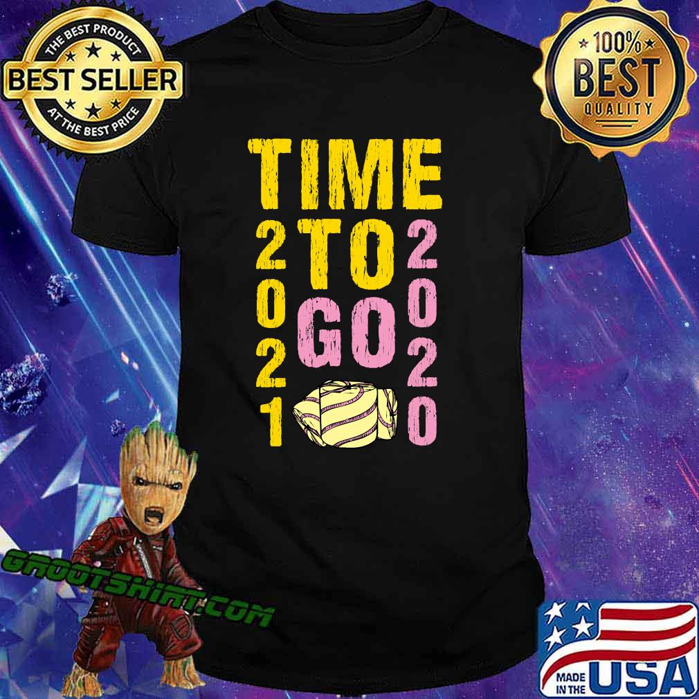 Time to go 2020 goodbye gold and pink toilet paper classic shirt