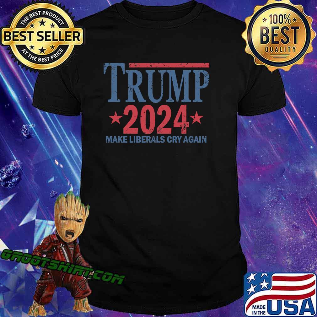 Vintage Trump 2024 Make Liberals Cry Again Stars Shirt