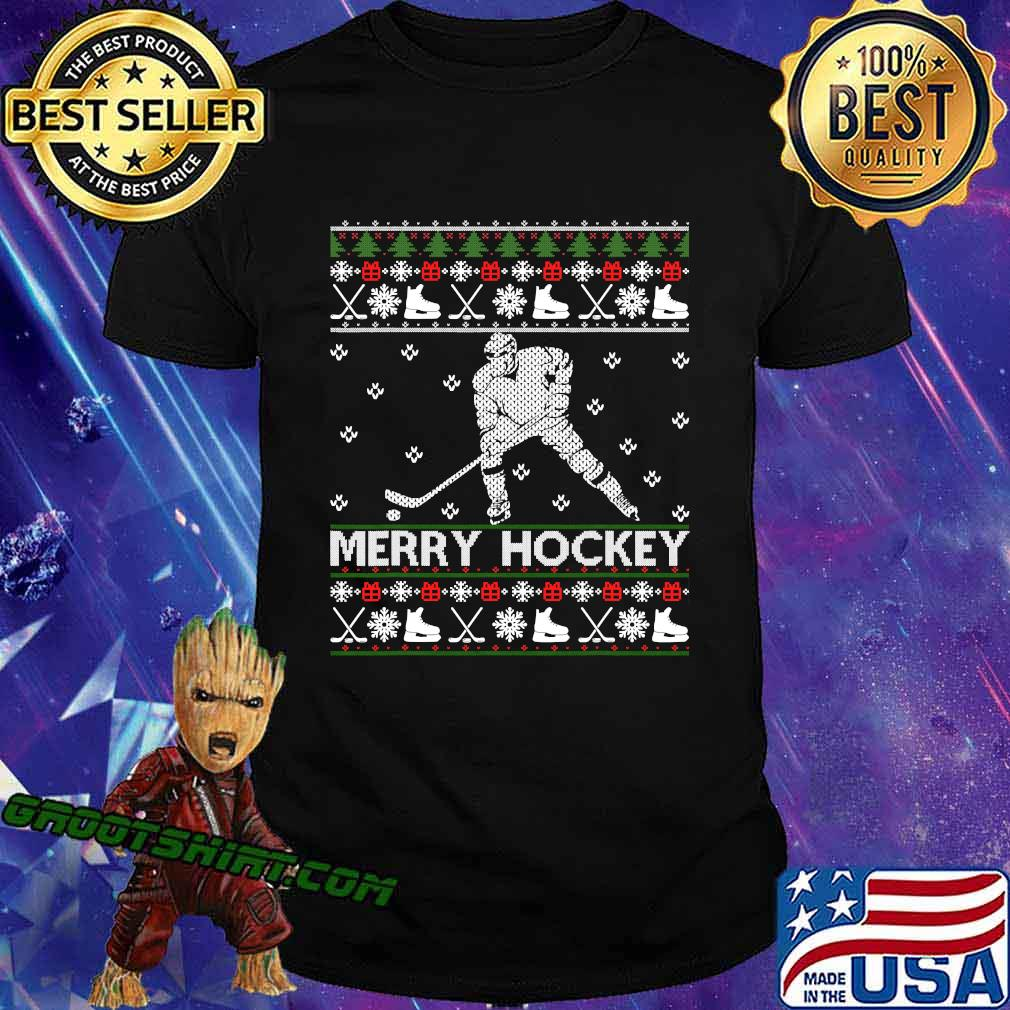 Official Hockey Merry Christmas Shirt