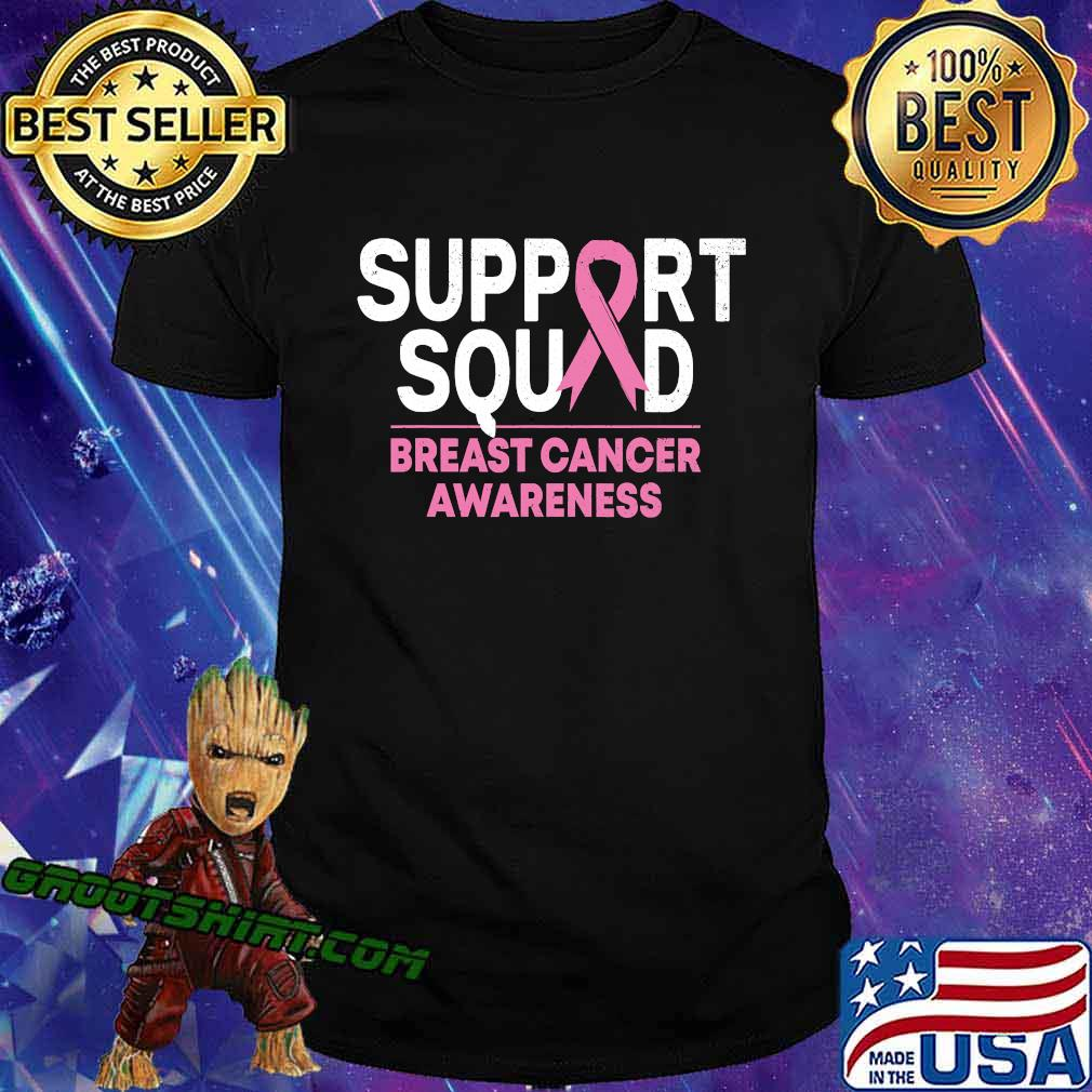 Support Squad Breast Cancer Awareness Pink Ribbon Shirt