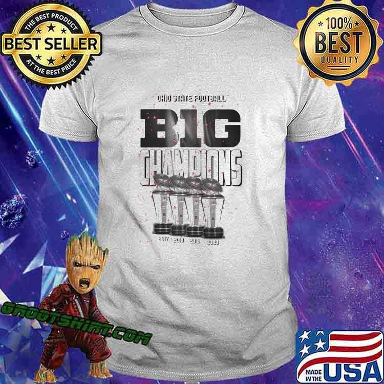 Ohio State Football Back To Back Big Champions Win Shirt