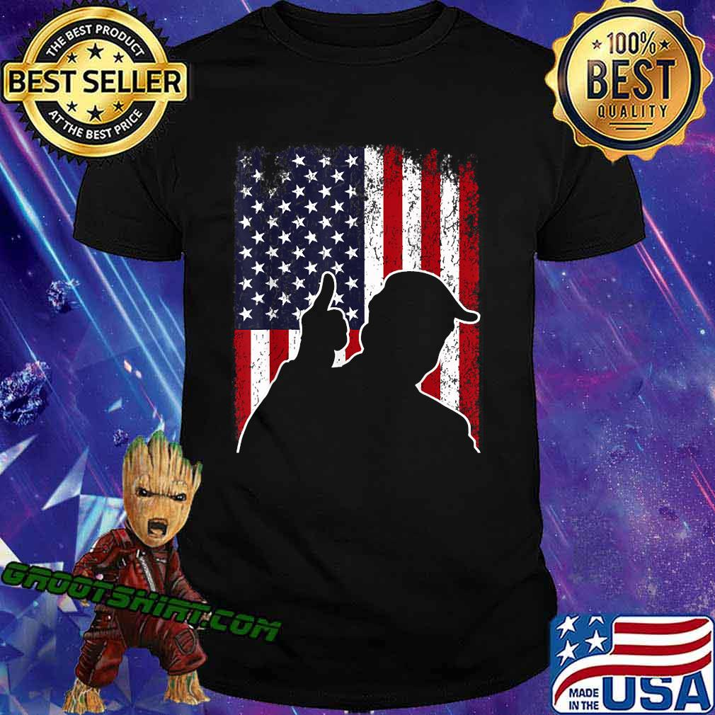 The Best Is Yet To Come - Trump American Flag Shirt